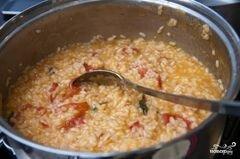 «Ризотто с помидорами» - приготовления блюда - шаг 10