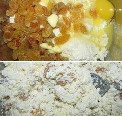 «Блинчики с творогом и изюмом» - приготовления блюда - шаг 2