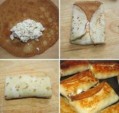 «Блинчики с творогом и изюмом» - приготовления блюда - шаг 3