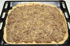 «Пирог с сыром и мясом» - приготовления блюда - шаг 6