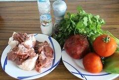 «Вкусный тандем - мясо с гранатом» - приготовления блюда - шаг 1