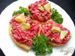 «Бутерброды с сельдью и свеклой» - приготовления блюда - шаг 4