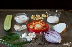 «Салат из сладкой кукурузы» - приготовления блюда - шаг 1