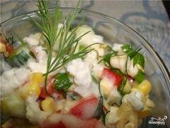 «Салат из сладкой кукурузы» - приготовления блюда - шаг 10