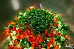 «Салат из сладкой кукурузы» - приготовления блюда - шаг 8