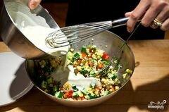 «Салат из сладкой кукурузы» - приготовления блюда - шаг 9