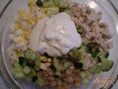 «Салат куриный с каперсами и фасолью» - приготовления блюда - шаг 3