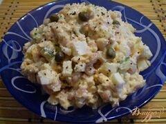 «Салат куриный с каперсами и фасолью» - приготовления блюда - шаг 4