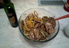 «Горячий гриль-салат» - приготовления блюда - шаг 9