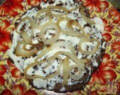 «Печеночный торт с плавленым сырком» - приготовления блюда - шаг 5