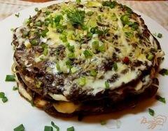«Печеночный торт с плавленым сырком» - приготовления блюда - шаг 8