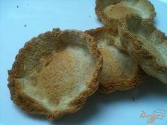 «Хлебные корзиночки со свекольным салатом» - приготовления блюда - шаг 3