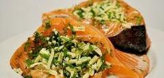 «Семга с сыром в виноградно-ореховом соусе» - приготовления блюда - шаг 3