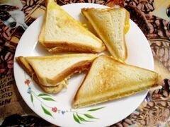 «Сэндвич с мясным паштетом» - приготовления блюда - шаг 6