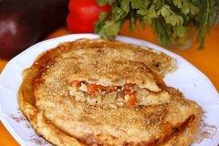 «Пирог с карамелизированными баклажанами» - приготовления блюда - шаг 10