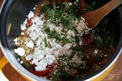 «Пирог с карамелизированными баклажанами» - приготовления блюда - шаг 7