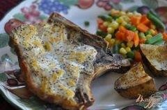 «Свиные отбивные с горчицей и сыром» - приготовления блюда - шаг 3