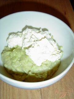 «Тарталетки с кремом из авокадо с сельдью» - приготовления блюда - шаг 7