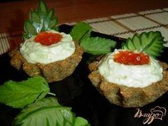 «Тарталетки с кремом из авокадо с сельдью» - приготовления блюда - шаг 9