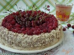 «Торт из пряников с ягодами» - приготовления блюда - шаг 9