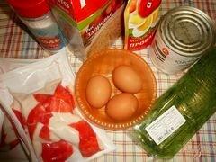 «Салат сытный с крабовым мясом и красной икрой» - приготовления блюда - шаг 1