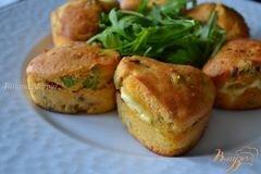 «Закусочные кексики с сыром и ветчиной» - приготовления блюда - шаг 6