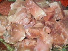 «Капустная солянка с грибами и мясом» - приготовления блюда - шаг 1