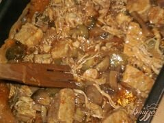«Капустная солянка с грибами и мясом» - приготовления блюда - шаг 10