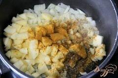 «Восточный суп с фаршем» - приготовления блюда - шаг 3