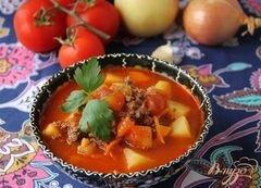 «Восточный суп с фаршем» - приготовления блюда - шаг 6