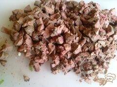 «Слоеный печеночный салатик» - приготовления блюда - шаг 5