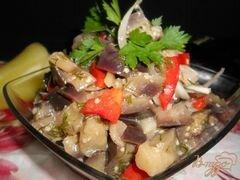 «Салат из баклажанов и перца» - приготовления блюда - шаг 5