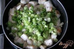 «Гратин из картофеля с куриным рагу под миндальной корочкой» - приготовления блюда - шаг 4