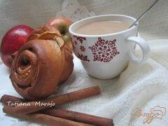 «Булочки с яблоками и корицей» - приготовления блюда - шаг 7