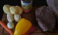 «Быстрый суп с фрикадельками и фасолью» - приготовления блюда - шаг 1