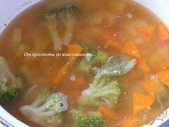 «Овощной суп с брокколи» - приготовления блюда - шаг 4