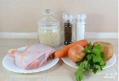 «Суп с рисом и картошкой» - приготовления блюда - шаг 1