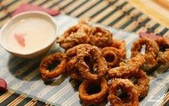 «Кольца кальмаров в кляре» - приготовления блюда - шаг 7