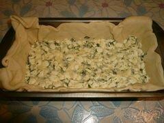 «Пирог из слоеного теста с начинкой из зерненого творога» - приготовления блюда - шаг 5