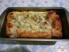 «Пирог из слоеного теста с начинкой из зерненого творога» - приготовления блюда - шаг 7