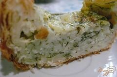 «Пирог из слоеного теста с начинкой из зерненого творога» - приготовления блюда - шаг 8