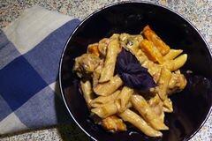 «Пенне с тыквой и курицей» - приготовления блюда - шаг 2