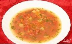 «Суп фасолевый с копченостями» - приготовления блюда - шаг 11