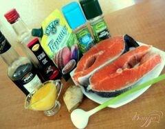 «Семга на гриле в медово-горчичной глазури» - приготовления блюда - шаг 1