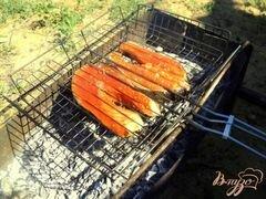 «Семга на гриле в медово-горчичной глазури» - приготовления блюда - шаг 3