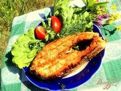 «Семга на гриле в медово-горчичной глазури» - приготовления блюда - шаг 4