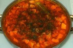 «Солянка с копченостями» - приготовления блюда - шаг 9