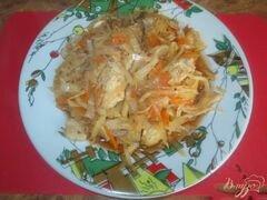 «Капуста тушеная со свининой» - приготовления блюда - шаг 10