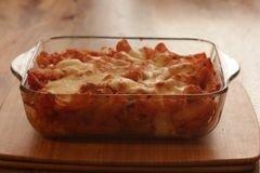 «Запеканка из пасты с моцареллой» - приготовления блюда - шаг 12