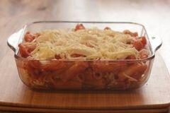 «Запеканка из пасты с моцареллой» - приготовления блюда - шаг 7